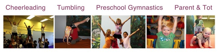Tumbling, Preschool Gymnastics, Cheerleading, Parent & Tot